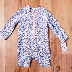 NWT Carter's Flowers Baby Girl Rash Guard Swim